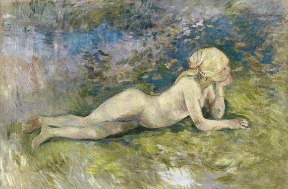 Berthe Morisot. Pastora desnuda tumbada, Museo Thyssen