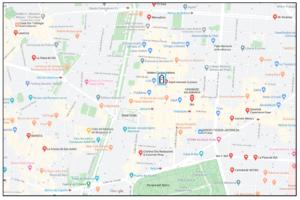 Mapa zona de Madrid calle Ayala